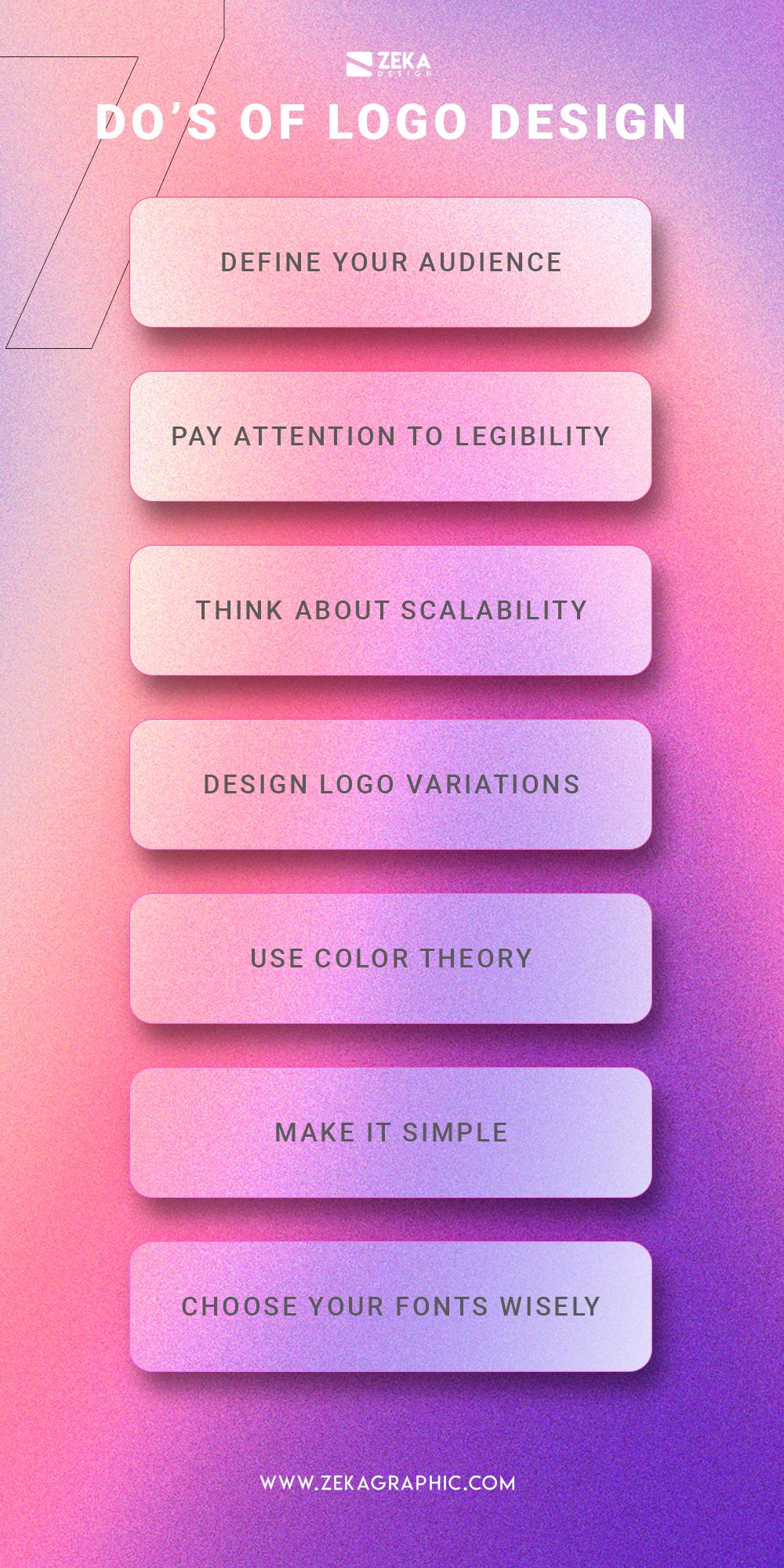 7 Do For a Good Logo Design Infographic