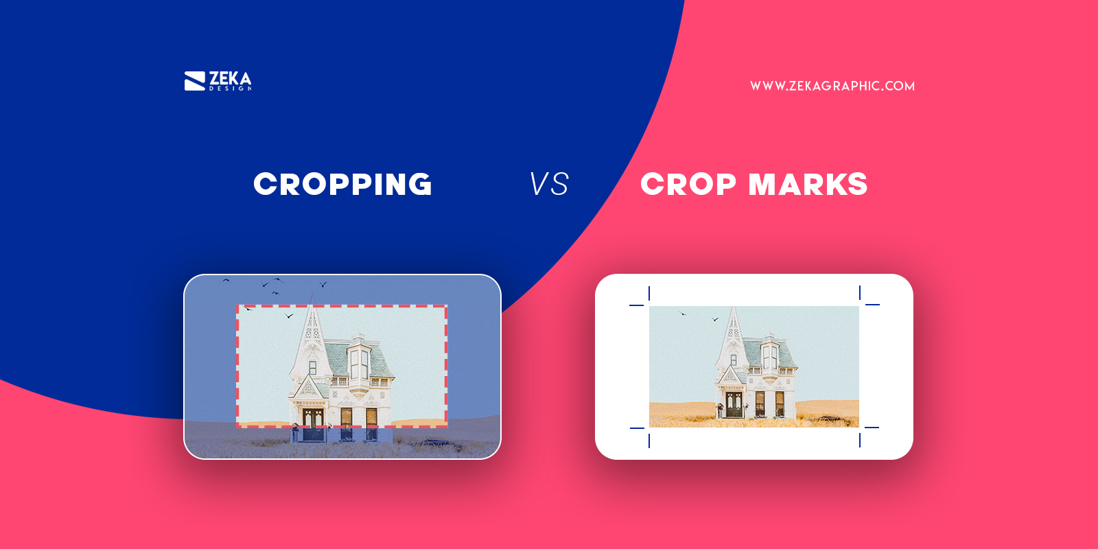 Cropping vs Crop marks in graphic design explained
