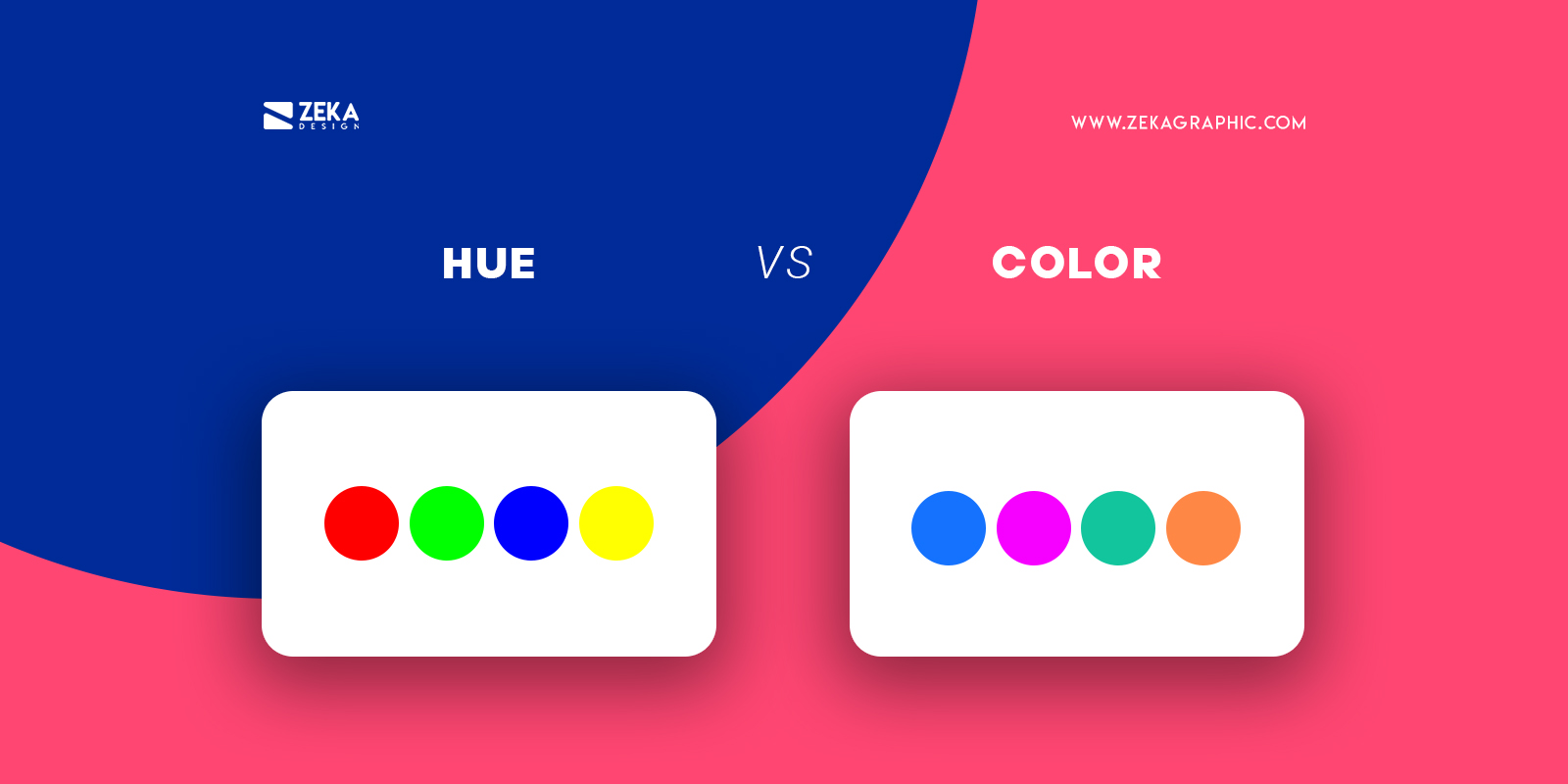 Hue vs Color Graphic Design Terms Explained
