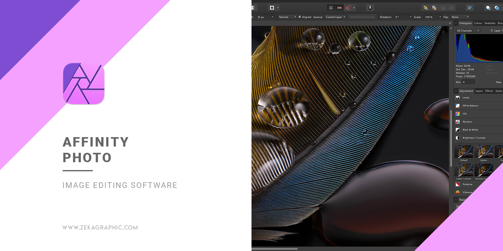 Affinity Photo Image Editing Software for Graphic Design