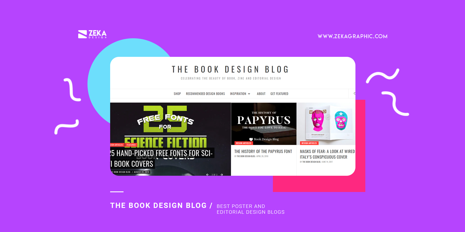 The book design blog Best poster and editorial design blogs