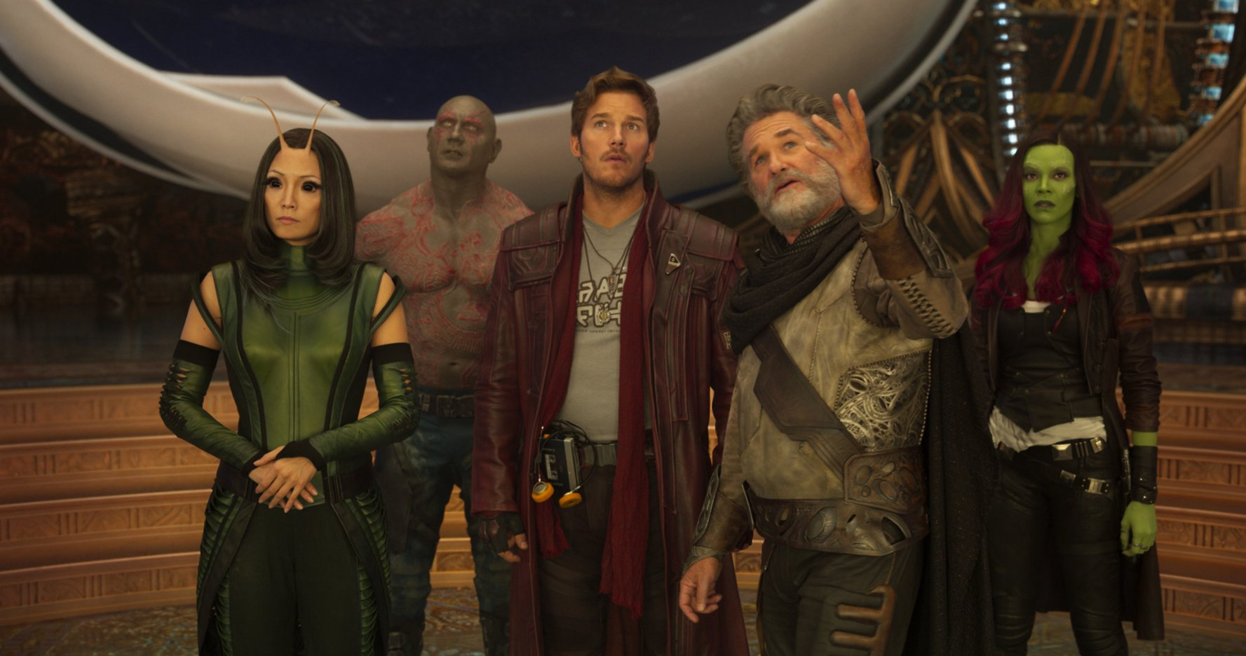 The cast of GUARDIANS OF THE GALAXY VOL. 2
