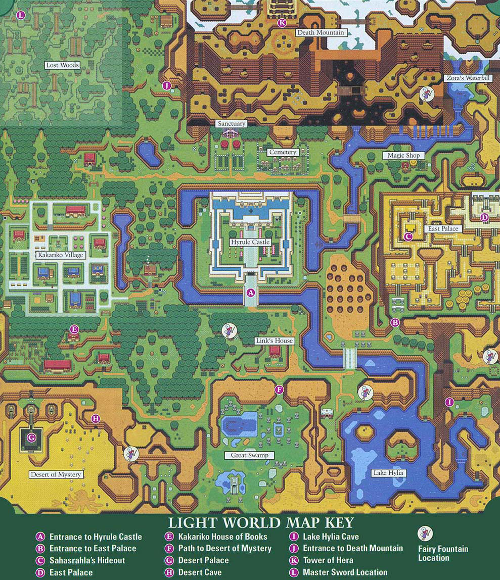 Link To The Past Light World Map.The Legend Of Zelda A Link To The Past Petros Jordan