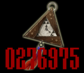 The clock with the Triforce pieces.