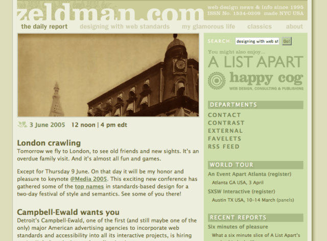 zeldman.com 10 years ago today