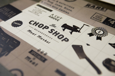 Brand identity for a butcher shop.