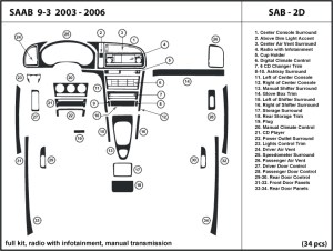 Saab 93 20032006 radio w infotainment manual