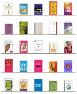 zelfhulpboeken boekenkast