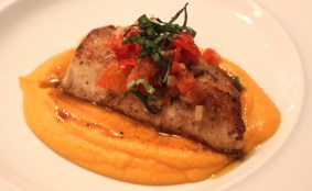 Cobia with Sweet Potato Puree