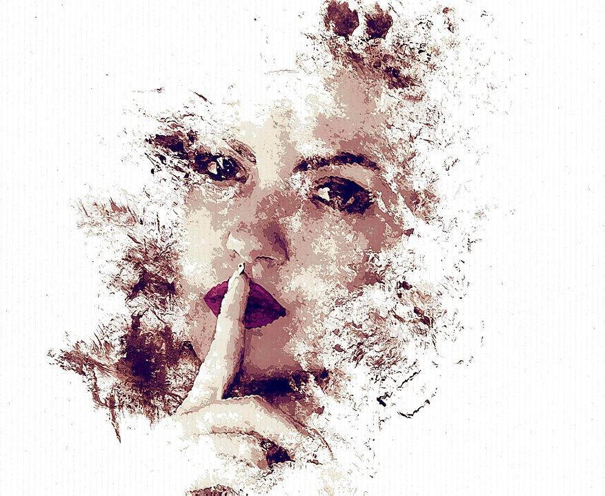 femme silence