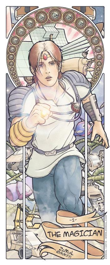 Illustration THE MAGICIAN représentant Jayce (Jayce & les conquérants de la lumière)