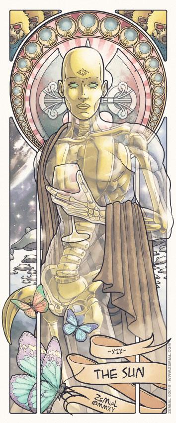 Illustration THE SUN représentant L'homme de Verre (Cobra)