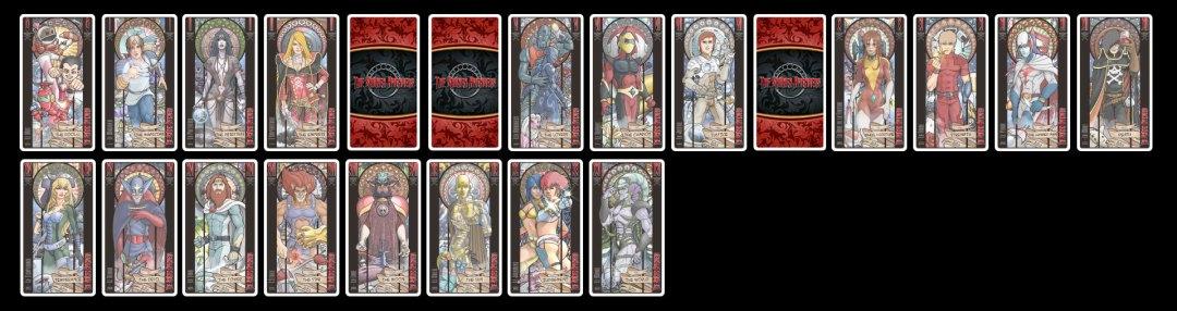 Panel des cartes ATOUTS du jeu THE SHONEN AVENGERS