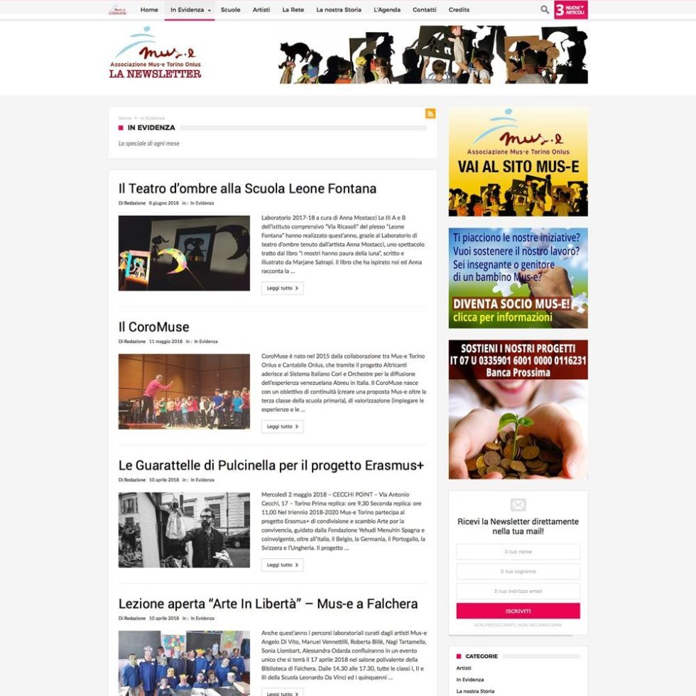 Mus-e Torino Web-design-zen Studio Siti Web Torino