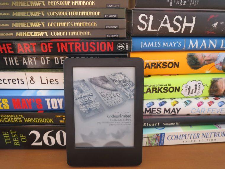 Tiny kindle & massive text books
