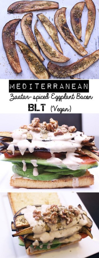 Mediterranean Eggplant BLT | Zena 'n Zaatar