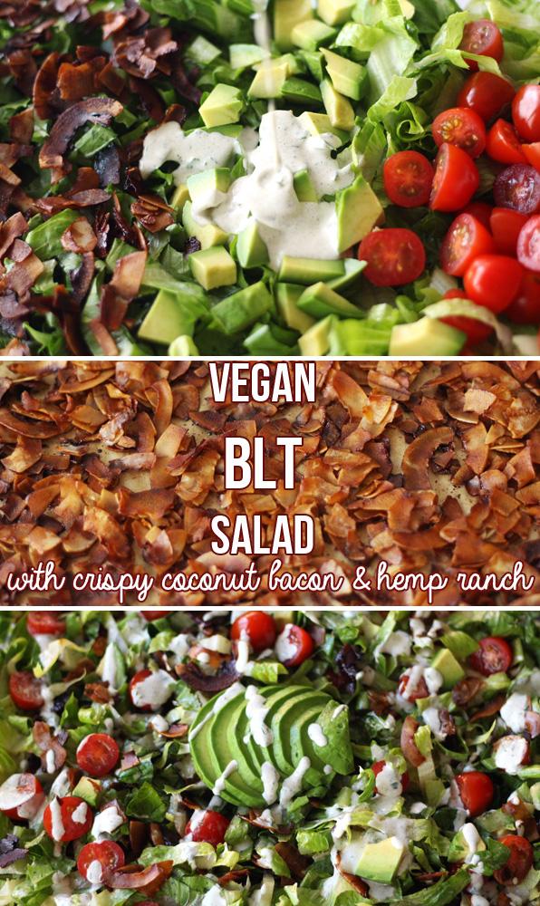 Vegan BLT Salad with Hemp Ranch Dressing (V, GF)   Zena 'n Zaatar