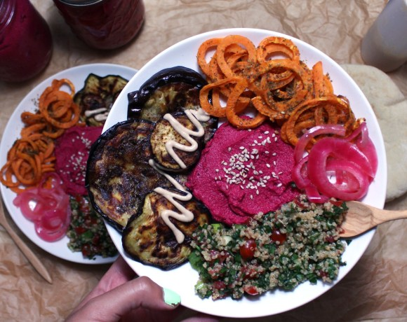Mediterranean Veggie Bowls with Quinoa Tabbouleh