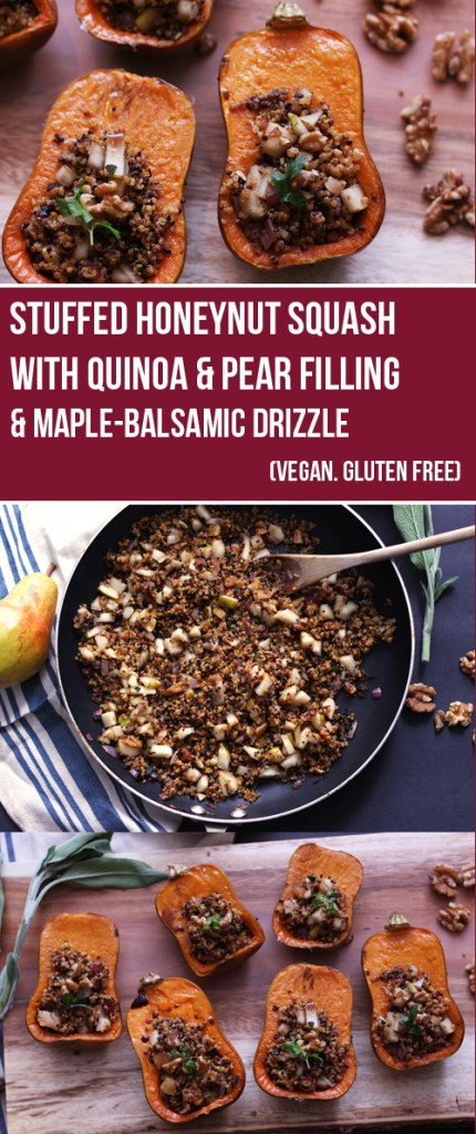 stuffed-honeynut-squash-with-quinoa-pear-filling-and-maple-balsamic-drizzle