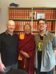 Myozan, Otrul Rinpoche and Brad, September 2016.