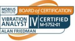 Alan Friedman ISO 18436-2 Category IV Vibration Analyst