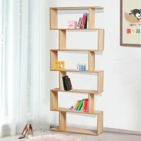bibliotheque destructuree zig zag 6 cases 192 x 80 cm rita zendart selection