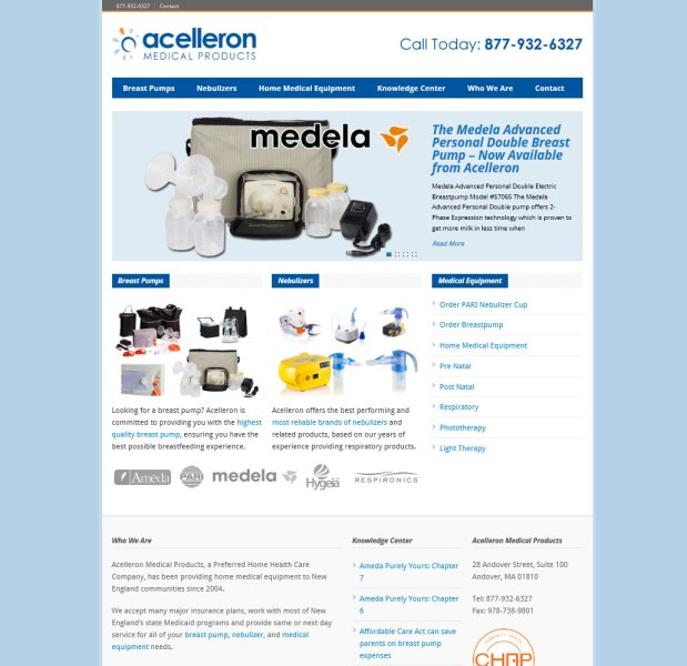 Mobile Website for Acelleron.com