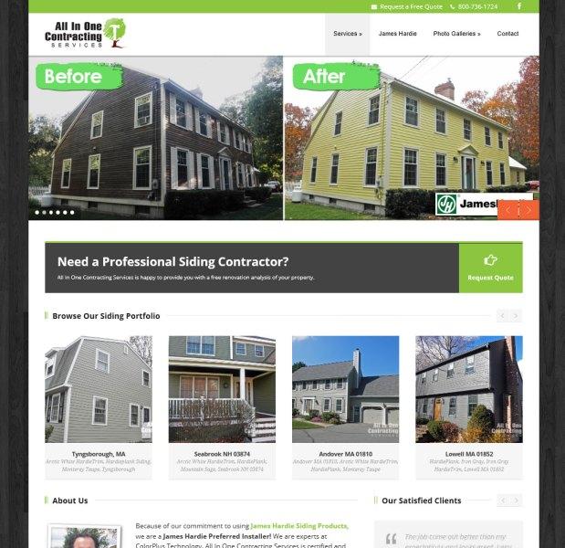 All in One Contracting Responsive Website Design