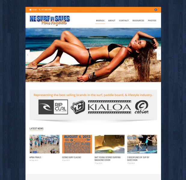 New Responsive Website for NE Surf & Sales