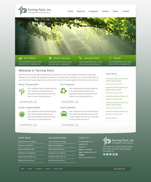 TPI's new website design using WordPress