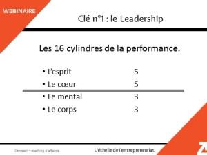 Les 16 cylindres de la performance pour une équipe performante