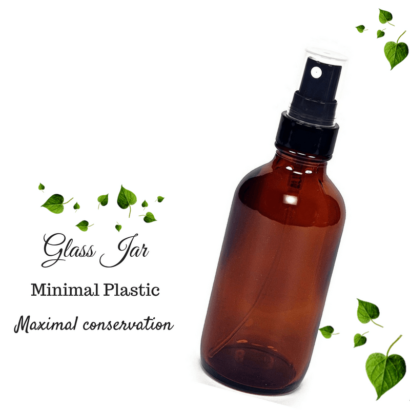 Cosmetic Container: Amber Glass Bottle with Spray - 300ml