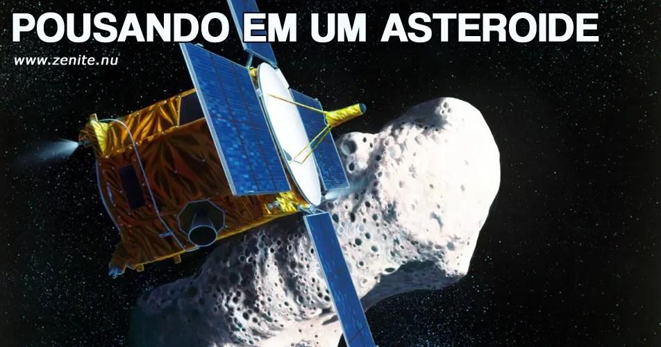 Pousando em um asteroide