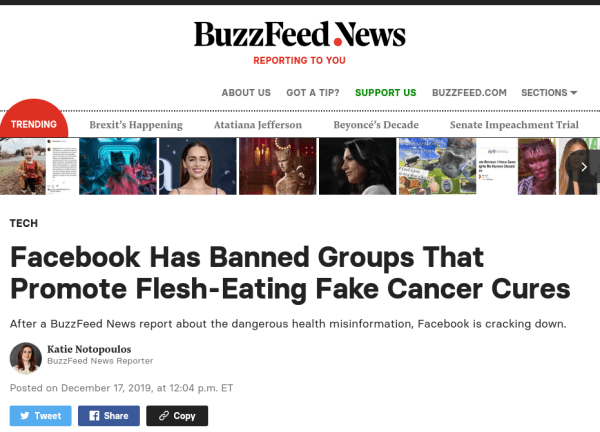 Buzzfeed Article