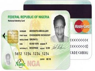 Nigeria identity card by nimc card registrations