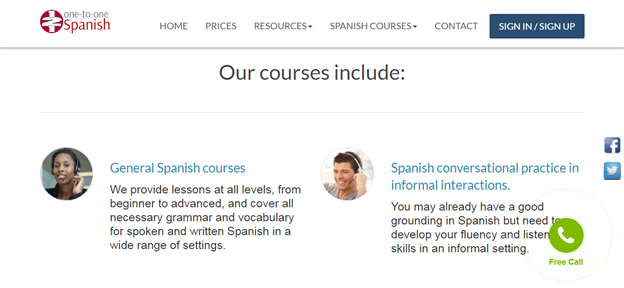 121 spanish Courses Reviews