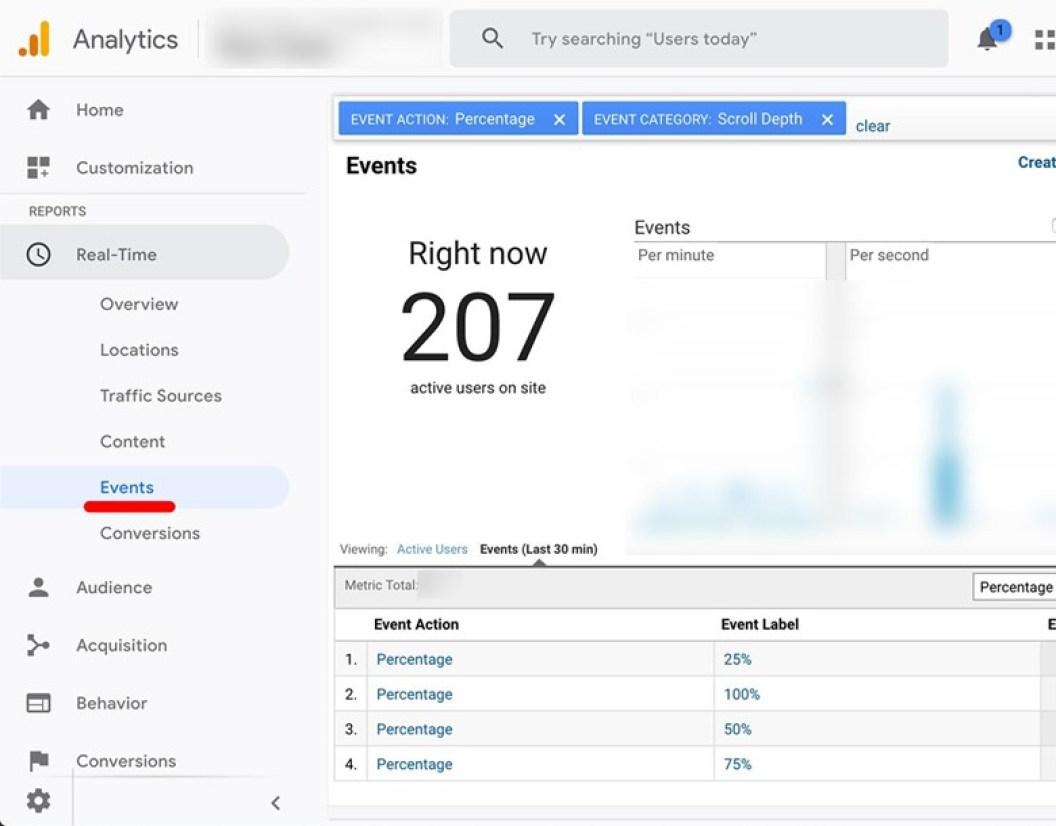 Google Analytics Scroll Depth Tracking
