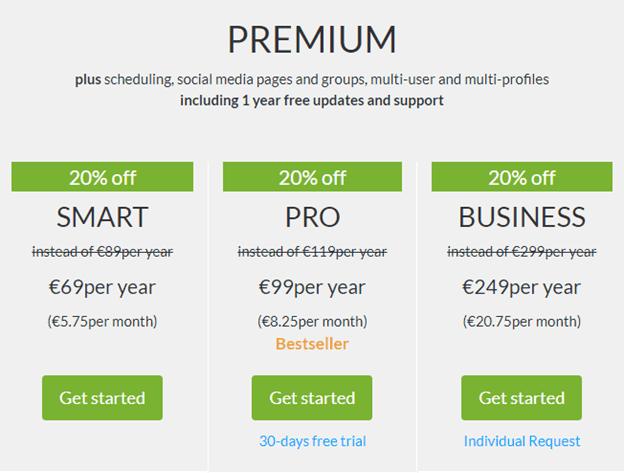 Blog2social Premium auto publish WordPress posts on social media