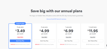 Nord VPN Extension for Chrome pricing