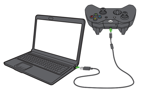 Xbox One with laptop