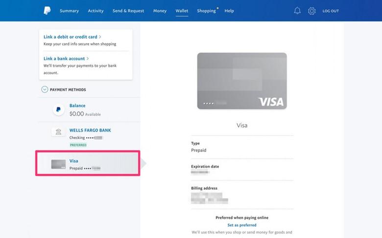 Transfer Visa Gift Card Balance to Paypal Wallet