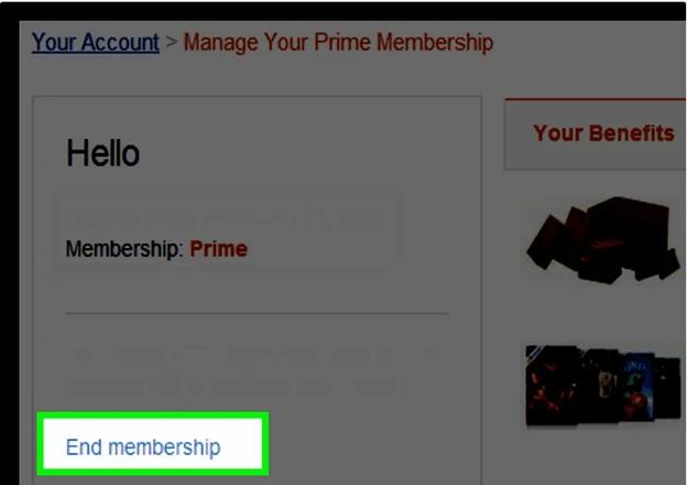 Manage Prime Membership