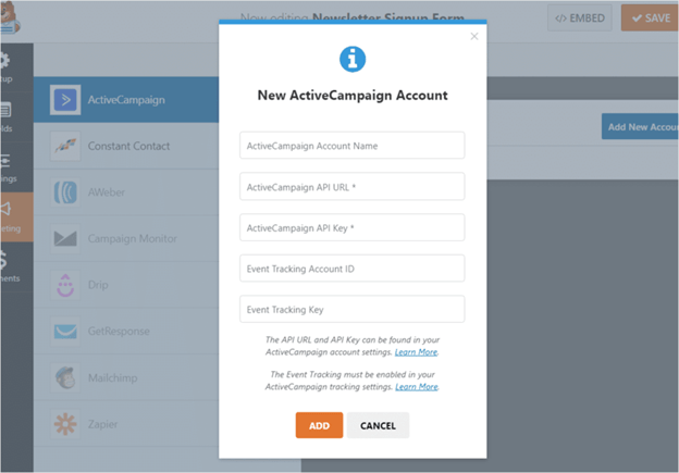 Set up ActiveCampaign account for email marketing
