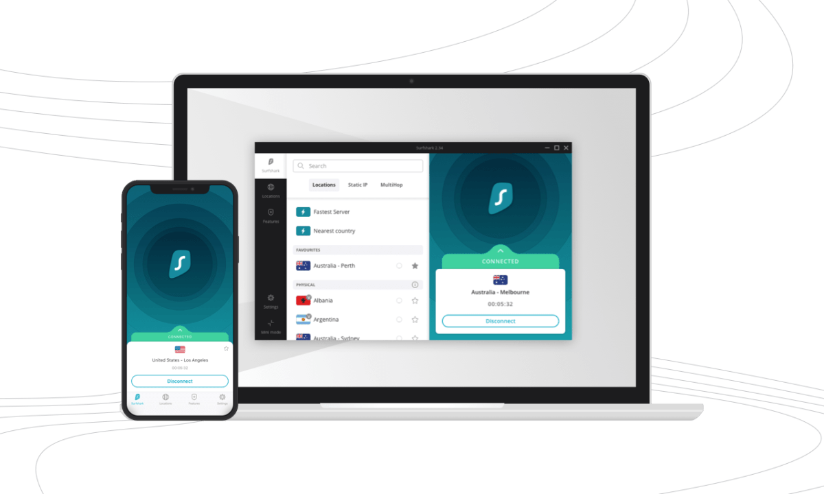 Surfshark VPN For Mobile devices and Windows