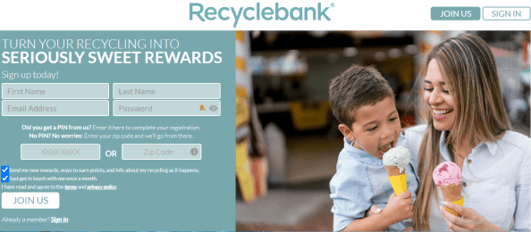 Earn Amazon Gift with RecycleBANK