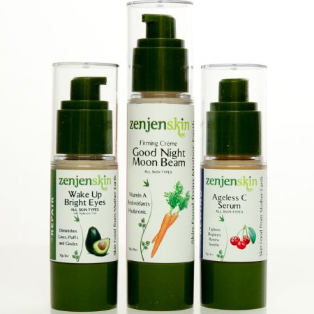 Organic Skincare Trio Moisturizers for Night and Day