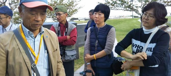 東アジアを戦場にするな!ZENKOスピーキングツアー1日目〜韓国人慰霊塔、沖縄平和記念資料館、平和の礎、航空自衛隊与座岳レーダーサイト〜