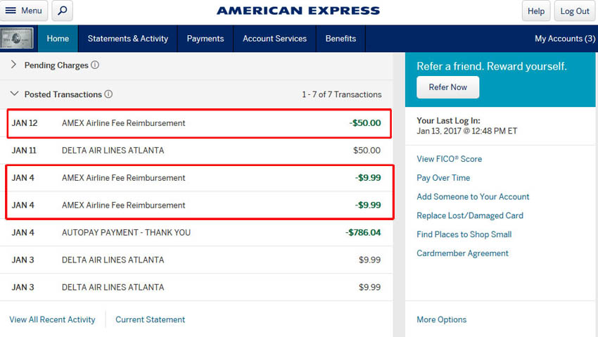 American express airline fee credit zen life and travel american express airline fee credit credit card travel benefits american express platinum benefits negle Gallery