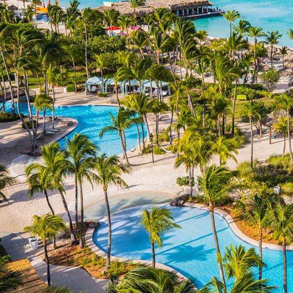 Use your points from the increased sign up bonus on Hilton Credit Cards to stay at the Hilton Aruba Resort & Casino