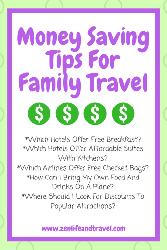 Money Saving Tips For Family Travel- Most people think traveling is expensive and can only be done once a year at best. While it can be expensive, it doesn't have to be. There are lots of ways to cut down on expenses, but still have a memorable family vacation. I hope you can use some of these money saving tips for family travel on your next vacation.